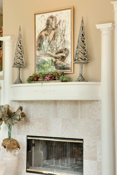 Custom Trim around Fireplace