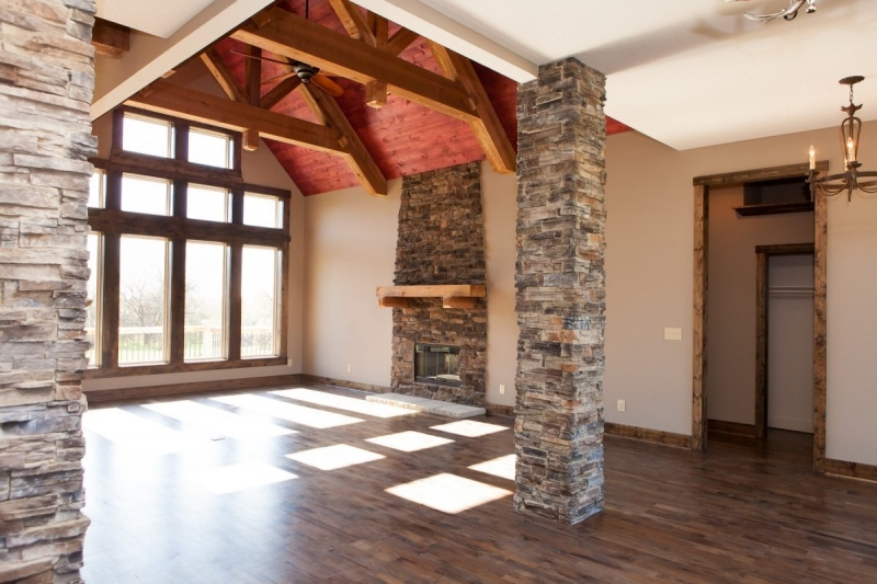 Rustic Ranch Accented Ceiling