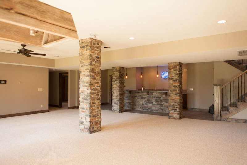... Rustic Ranch Custom Recreation Room ...