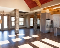 Rustic Ranch Main Floor with accented ceiling