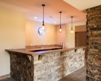 Rustic Ranch Stone Bar