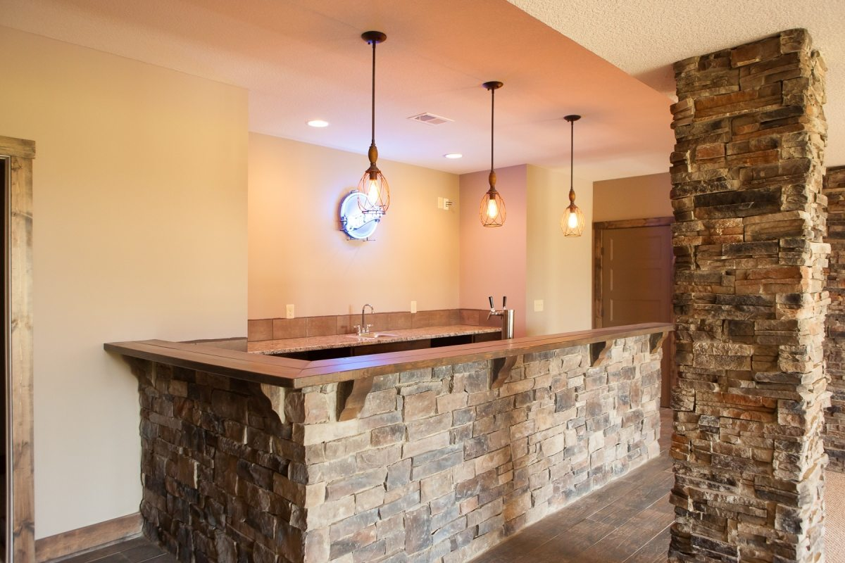 Rustic Ranch Stone Bar